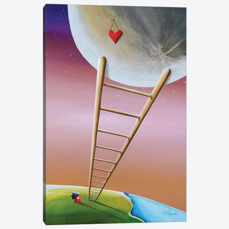 Destination Moon Canvas Print #CTN5} by Cindy Thornton Canvas Artwork
