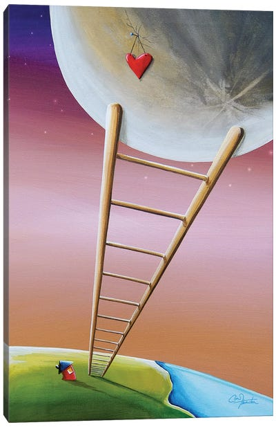Destination Moon Canvas Art Print