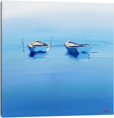 Late Moorings Canvas Art Print
