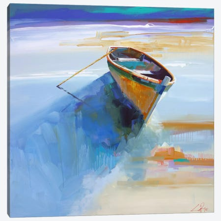 Low Tide I Canvas Print #CTP13} by Craig Trewin Penny Canvas Artwork