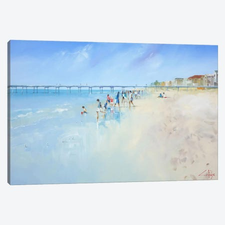 Low Tide At Henley Canvas Print #CTP15} by Craig Trewin Penny Canvas Art Print