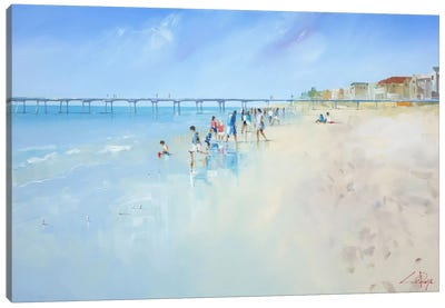 Low Tide At Henley Canvas Art Print