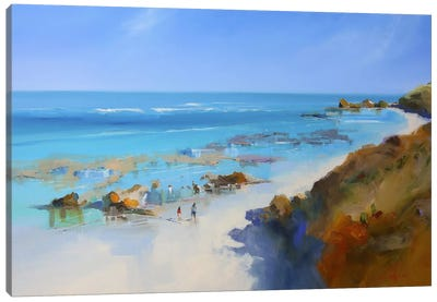 On The Back Beach, Sorrento Canvas Art Print