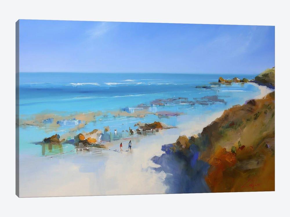 On The Back Beach, Sorrento by Craig Trewin Penny 1-piece Canvas Art