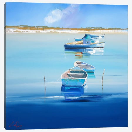 River Moorings Canvas Print #CTP19} by Craig Trewin Penny Canvas Art