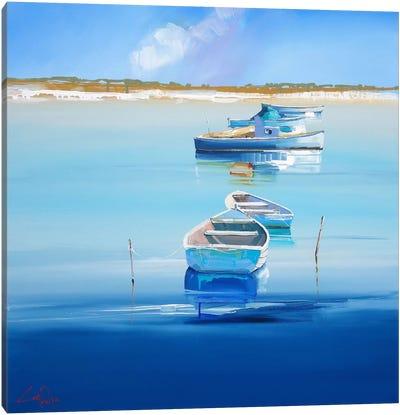 River Moorings Canvas Art Print