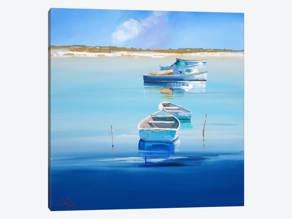 River Moorings by Craig Trewin Penny 1-piece Canvas Artwork