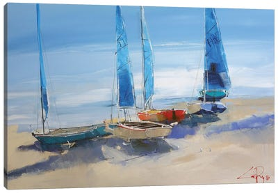 Before The Sail Canvas Art Print