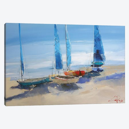 Before The Sail 3-Piece Canvas #CTP21} by Craig Trewin Penny Canvas Print