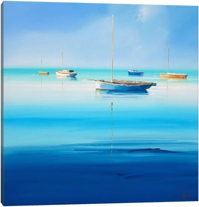 Blue Couta I Canvas Art Print