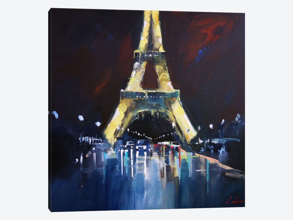 Eiffel Rain by Craig Trewin Penny 1-piece Canvas Art Print
