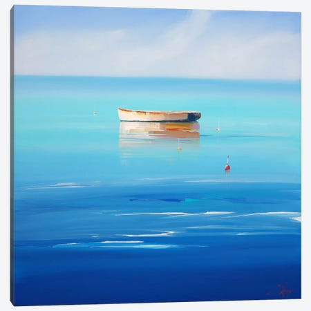 Four Buoys, Sorrento Canvas Print #CTP7} by Craig Trewin Penny Art Print