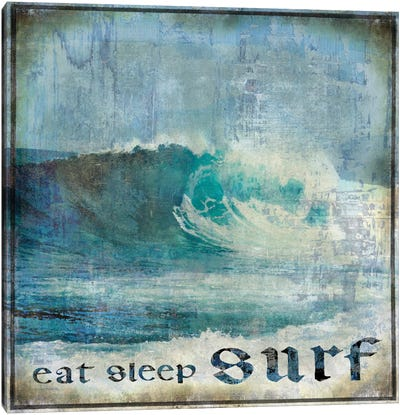 Eat Sleep Surf Canvas Art Print
