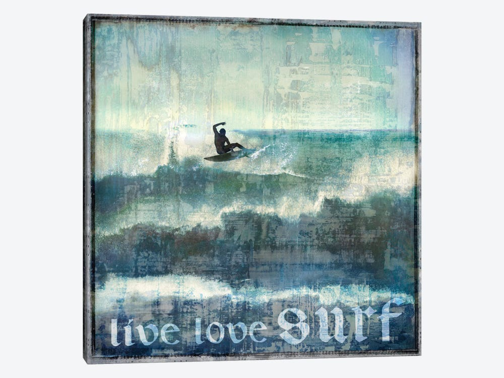 Live Love Surf by Charlie Carter 1-piece Canvas Art Print