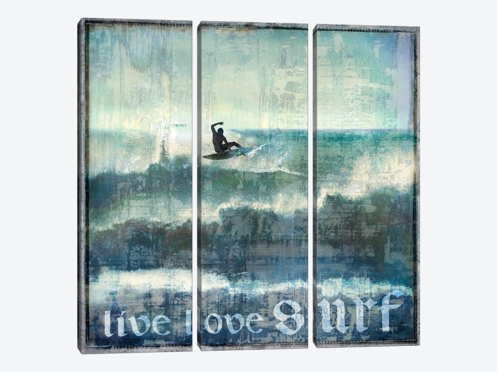 Live Love Surf by Charlie Carter 3-piece Art Print