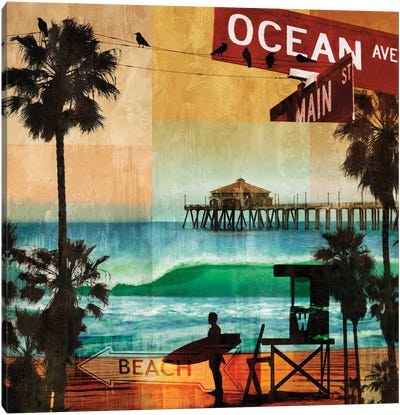 Ocean Avenue Canvas Art Print