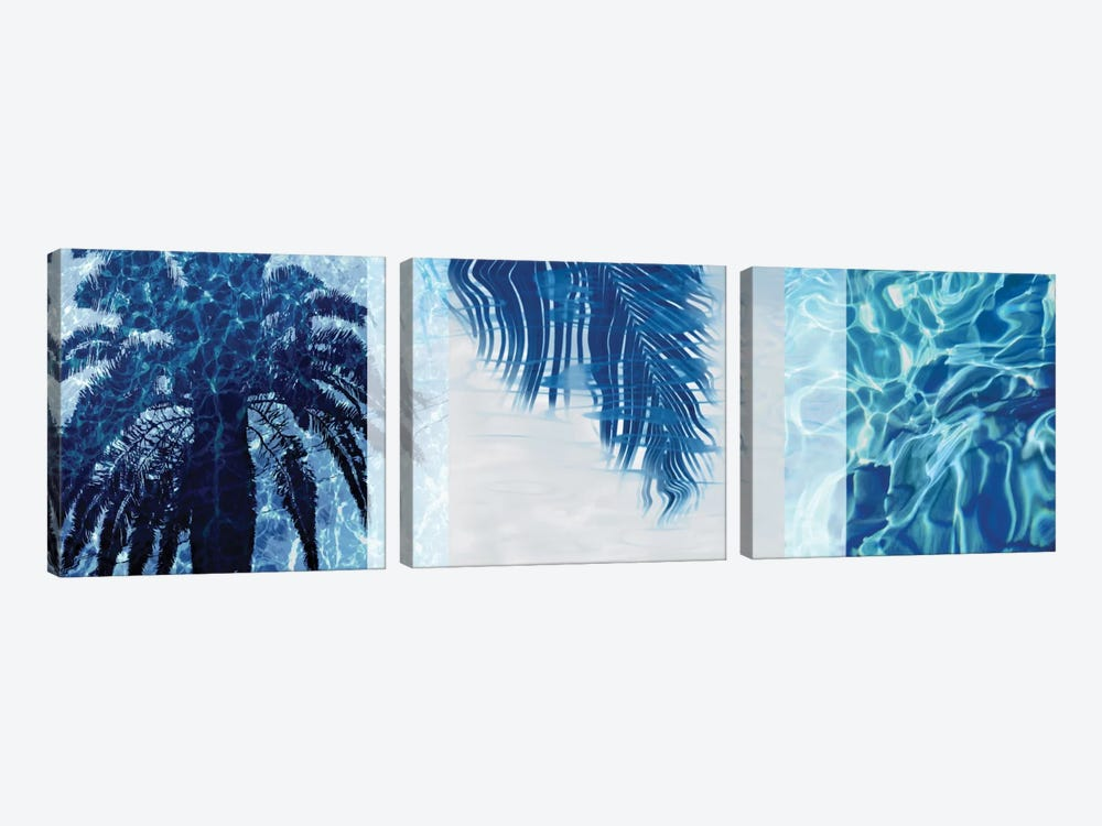 Palm Resort II by Charlie Carter 3-piece Canvas Art