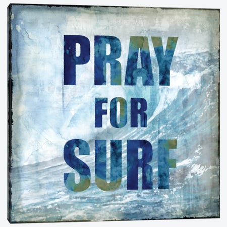 Pray For Surf Canvas Print #CTR17} by Charlie Carter Canvas Art Print
