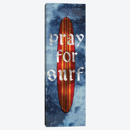 Pray For Surf, Surf Board Canvas Print #CTR18} by Charlie Carter Canvas Wall Art