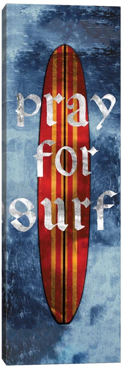 Pray For Surf, Surf Board Canvas Art Print
