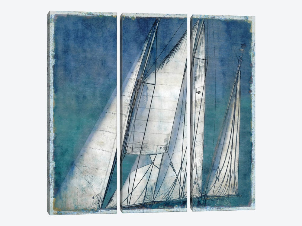 Sail Away II by Charlie Carter 3-piece Canvas Print