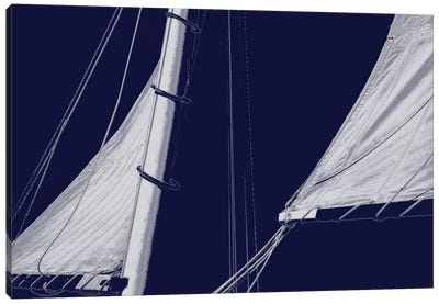Schooner Sails II Canvas Art Print