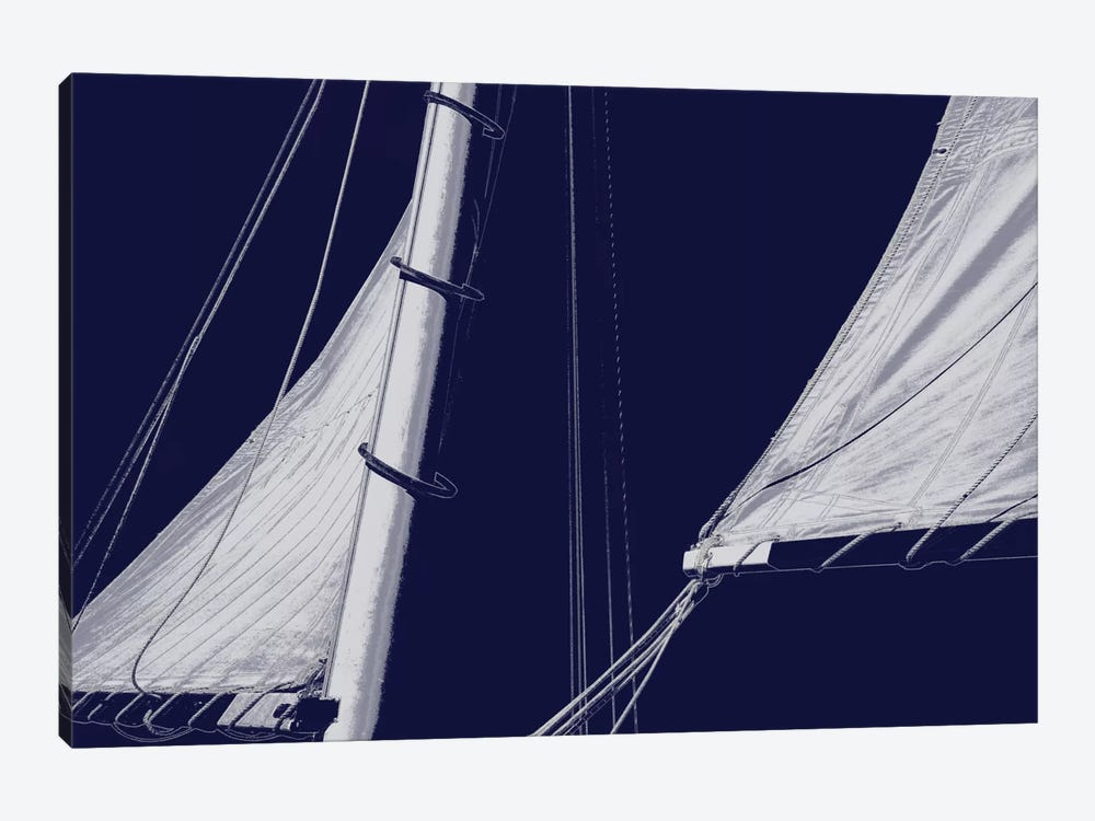 Schooner Sails II by Charlie Carter 1-piece Canvas Print