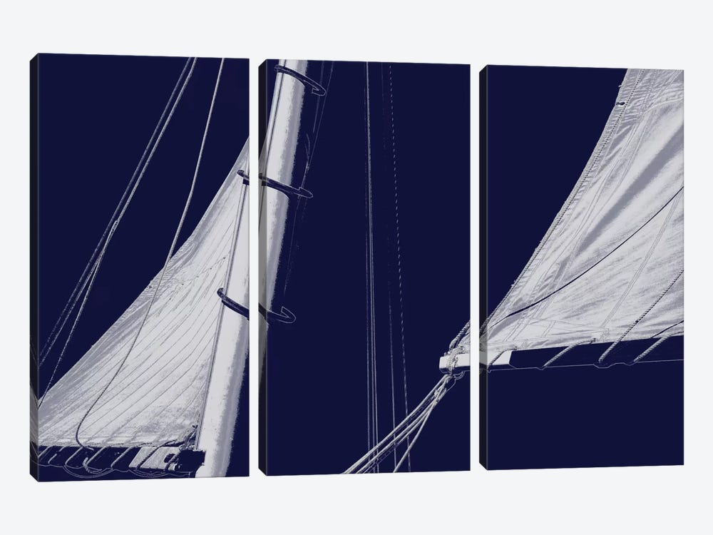 Schooner Sails II by Charlie Carter 3-piece Art Print