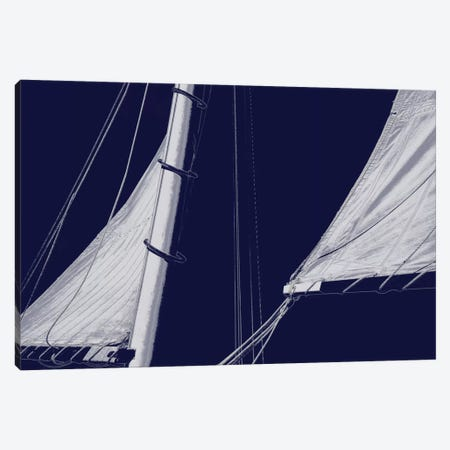 Schooner Sails II Canvas Print #CTR22} by Charlie Carter Art Print