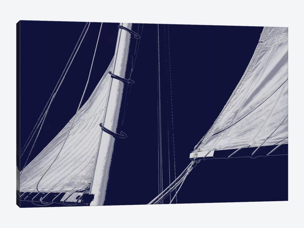 Schooner Sails II by Charlie Carter 1-piece Canvas Print