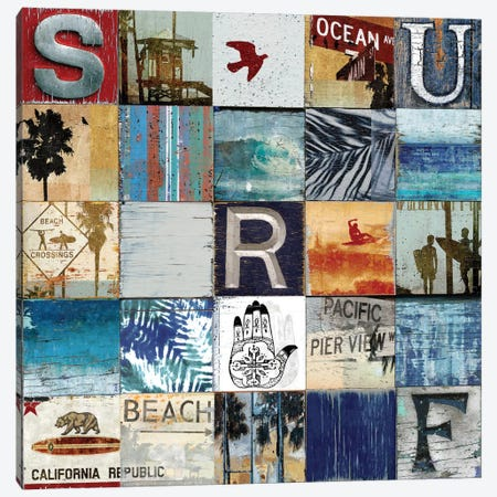 Surf City Canvas Print #CTR24} by Charlie Carter Canvas Artwork
