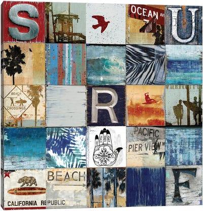 Surf City Canvas Art Print