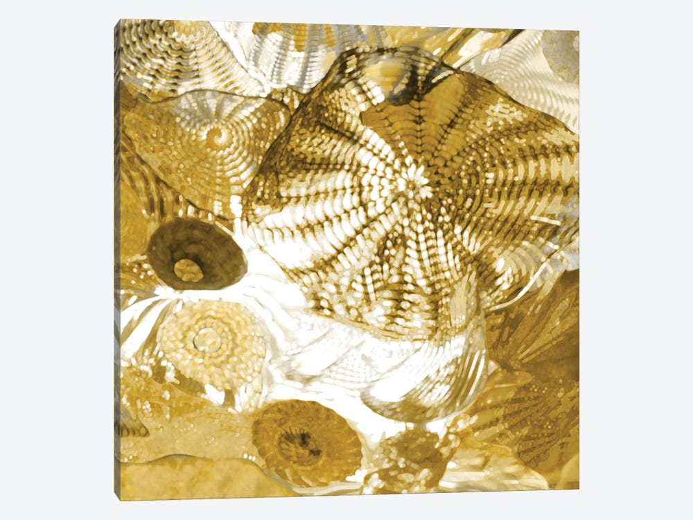 Underwater Perspective In Gold by Charlie Carter 1-piece Canvas Art Print