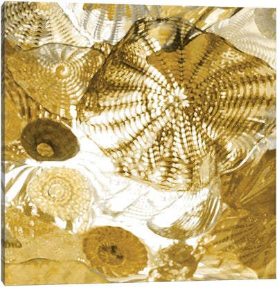 Underwater Perspective In Gold Canvas Art Print