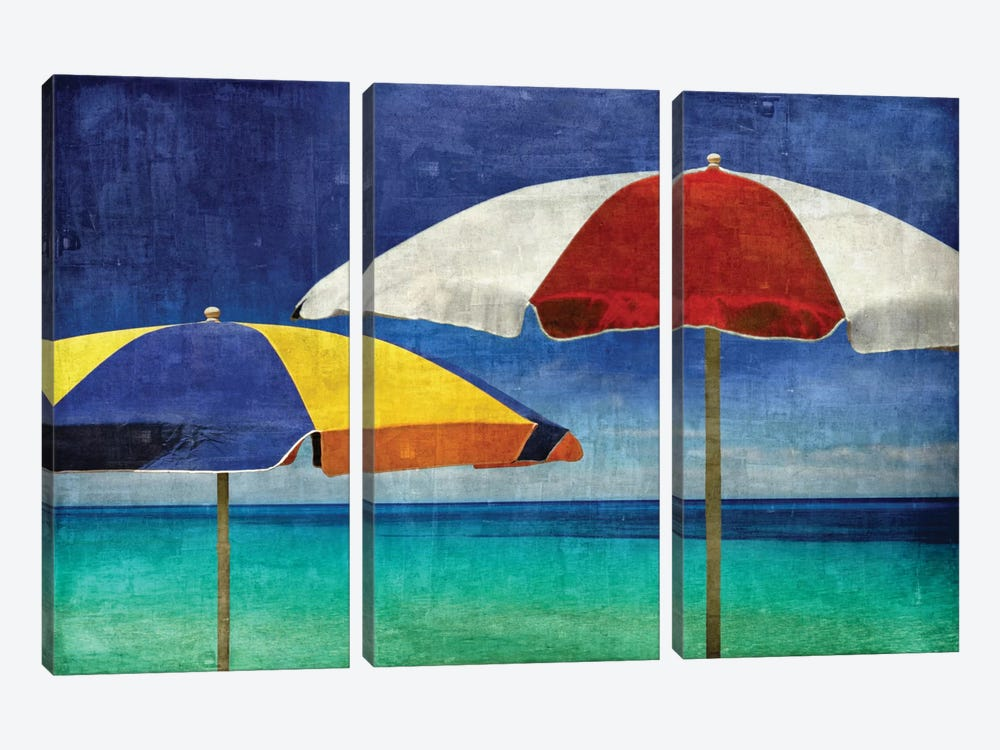 Beach Companions by Charlie Carter 3-piece Canvas Print