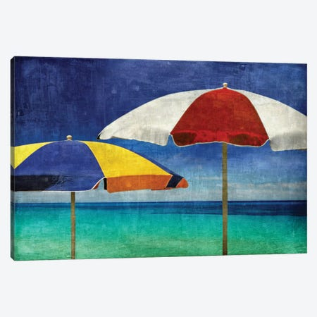 Beach Companions 3-Piece Canvas #CTR2} by Charlie Carter Canvas Art