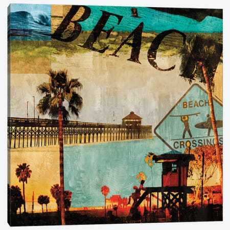 Beach Culture Canvas Print #CTR3} by Charlie Carter Canvas Art