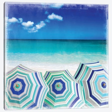 Beach Gathering Canvas Print #CTR4} by Charlie Carter Canvas Print
