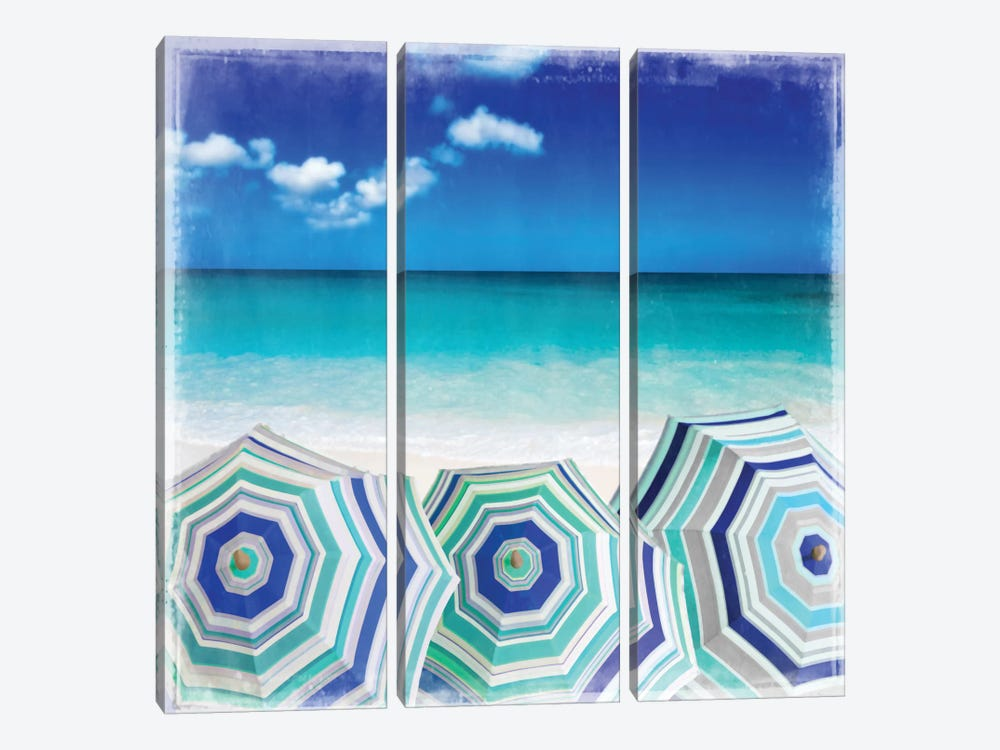 Beach Gathering by Charlie Carter 3-piece Canvas Art Print