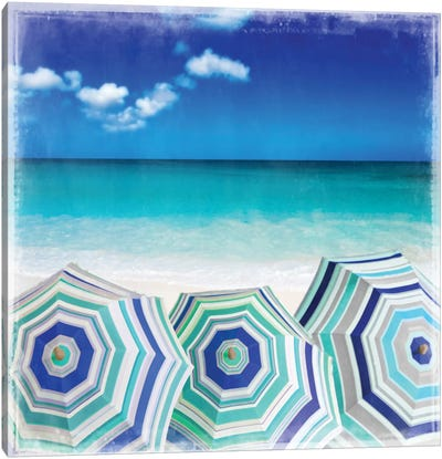 Beach Gathering Canvas Art Print