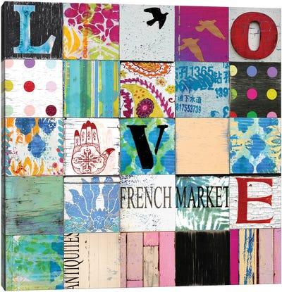 Boho Love Canvas Print #CTR7