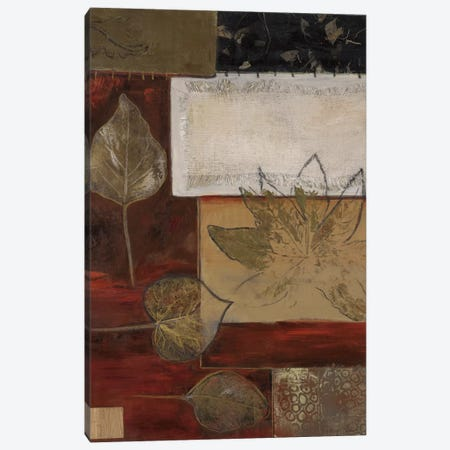 Burlap And Gold I Canvas Print #CTU1} by Connie Tunick Canvas Print