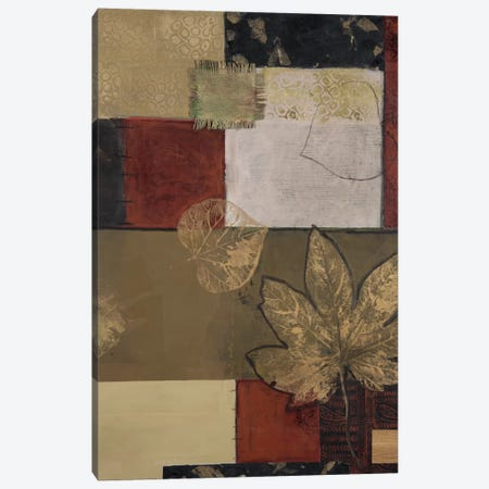 Burlap And Gold II Canvas Print #CTU2} by Connie Tunick Art Print