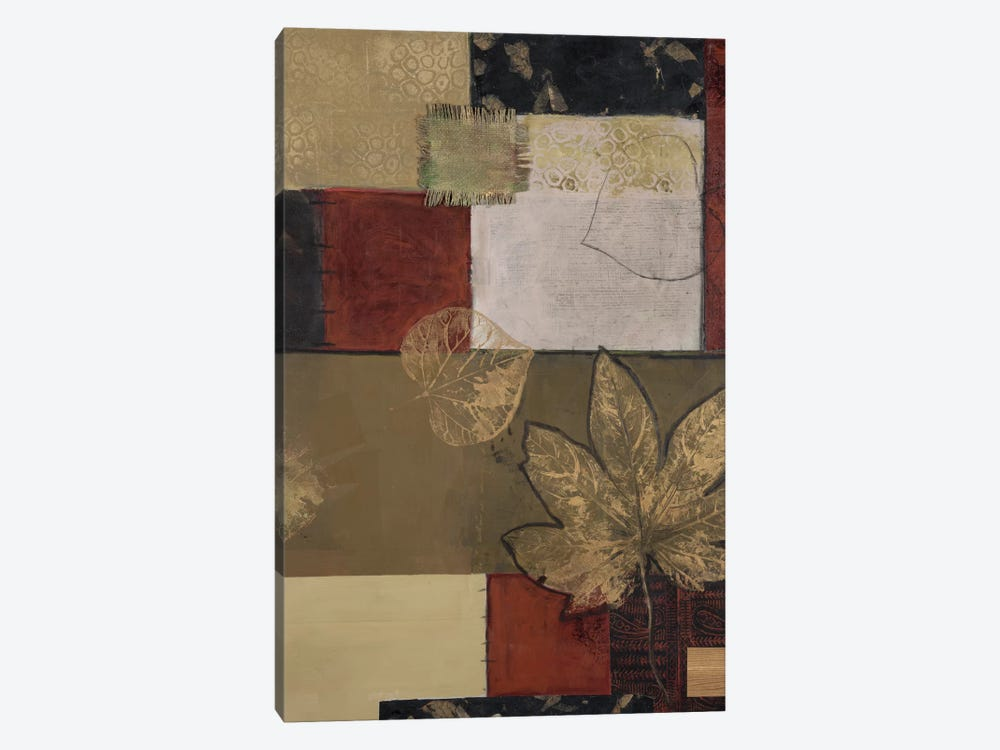 Burlap And Gold II by Connie Tunick 1-piece Canvas Artwork