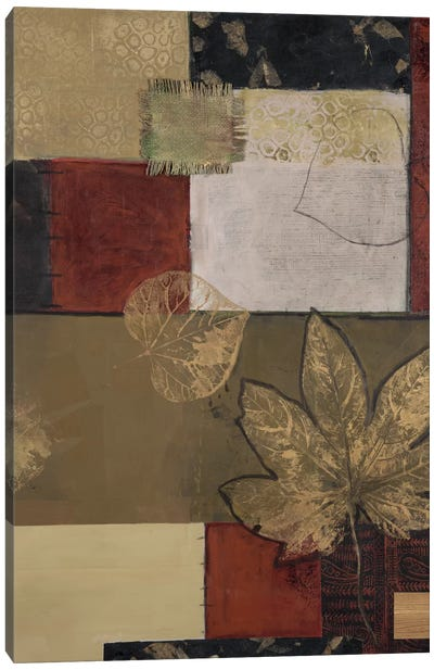 Burlap And Gold II Canvas Art Print
