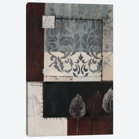Silver Damask I Canvas Print #CTU3} by Connie Tunick Art Print