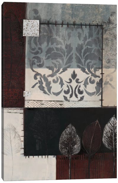 Silver Damask I Canvas Art Print