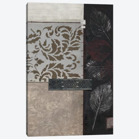 Silver Damask II Canvas Print #CTU4} by Connie Tunick Canvas Wall Art