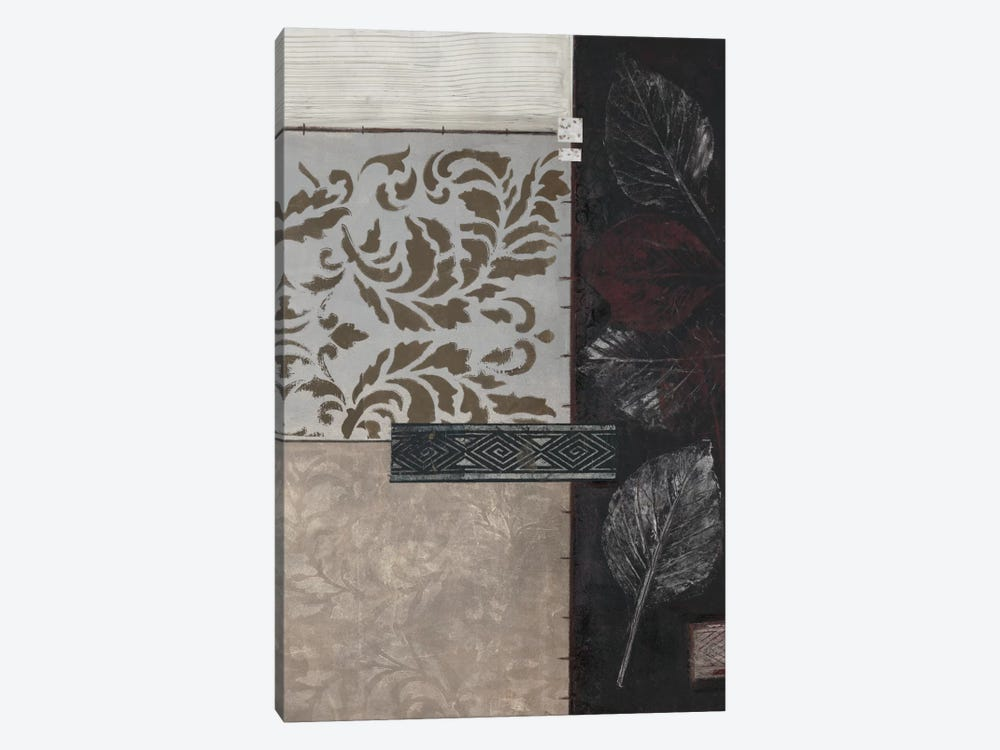 Silver Damask II by Connie Tunick 1-piece Canvas Artwork