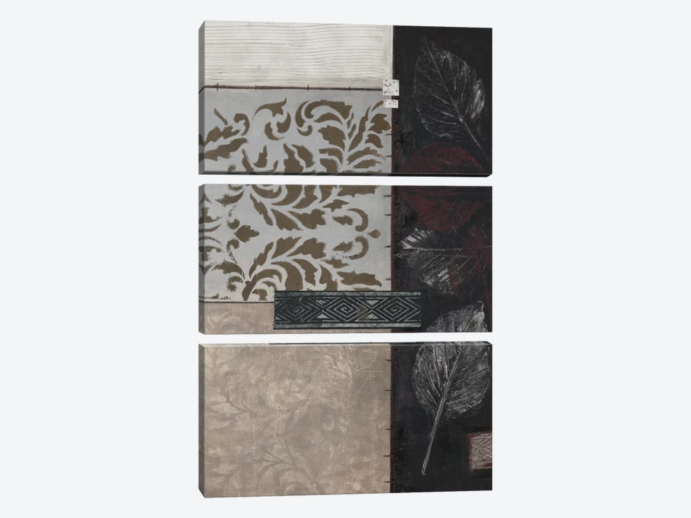 Silver Damask II by Connie Tunick 3-piece Canvas Art